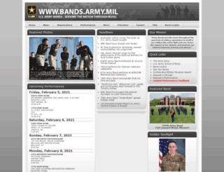 bands.army.mil screenshot