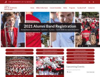 bands.ua.edu screenshot