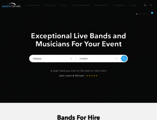 bandsforhire.net screenshot