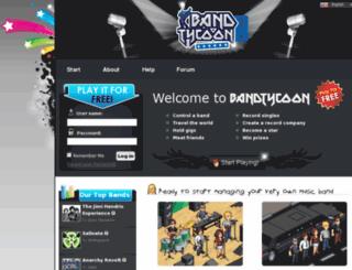 bandtycoon.com screenshot
