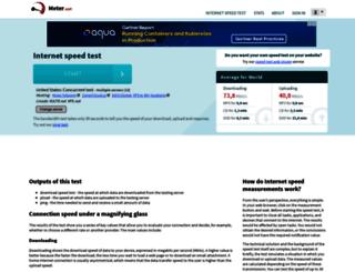 bandwidth-test.net screenshot