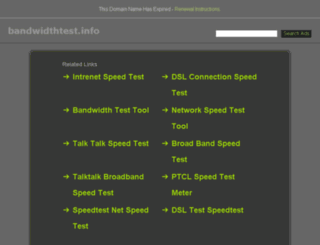 bandwidthtest.info screenshot