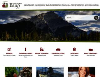banff.ca screenshot
