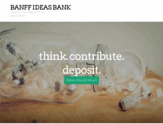 banffideasbank.wordpress.com screenshot