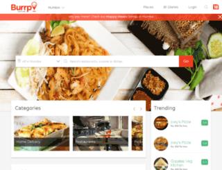 bangalore.burrp.com screenshot