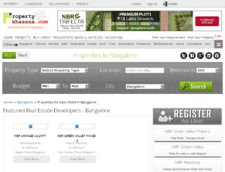 bangalore.propertykhazana.com screenshot