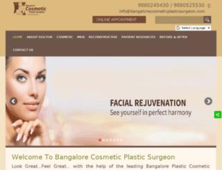 bangalorecosmeticplasticsurgeon.com screenshot