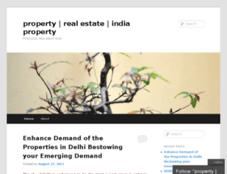 bangaloreindiaproperty.wordpress.com screenshot