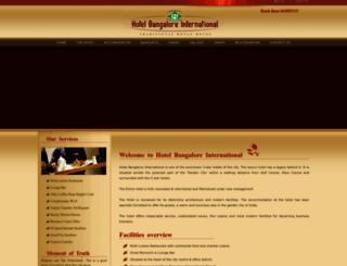 bangaloreinternational.com screenshot