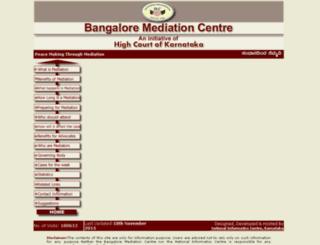 bangaloremediationcentre.kar.nic.in screenshot
