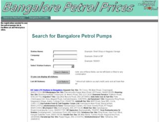 bangalorepetrolprices.com screenshot