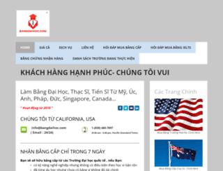 bangdaihoc.com screenshot