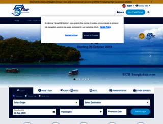 bangkokair.com screenshot