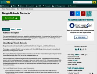 bangla-unicode-converter.soft112.com screenshot