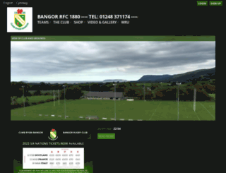 bangor-rugby.co.uk screenshot