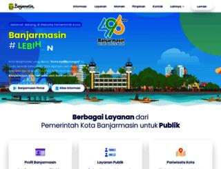 banjarmasinkota.go.id screenshot