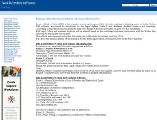 bank.examsavvy.com screenshot