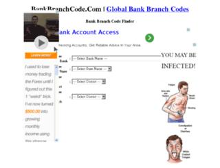 bankbranchcode.com screenshot