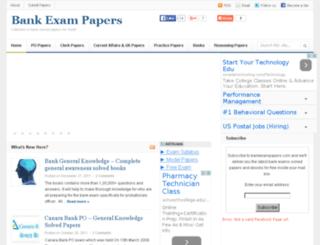 bankexampapers.com screenshot