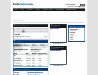 banki.bialowieza.pl screenshot