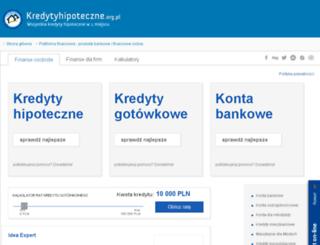 banki.kredytyhipoteczne.org.pl screenshot