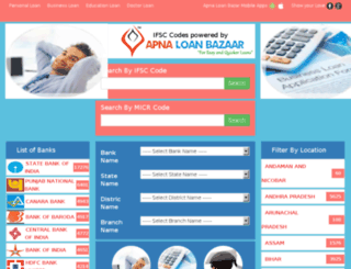 bankifsccode.apnaloanbazaar.com screenshot