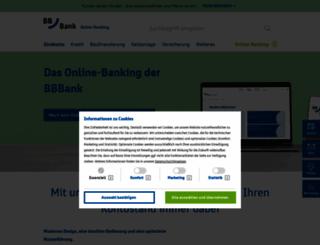 banking.bbbank.de screenshot