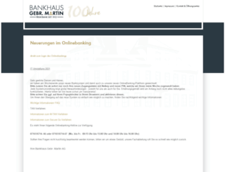 banking.martinbank.de screenshot