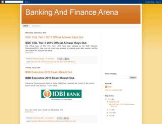 bankingfinancearena.blogspot.com screenshot