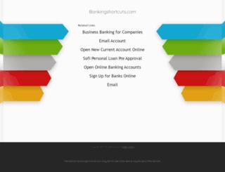 bankingshortcuts.com screenshot