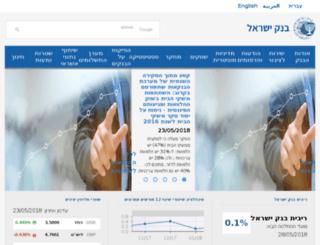 bankisrael.gov.il screenshot