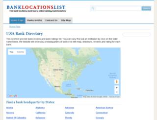 banklocationslist.com screenshot