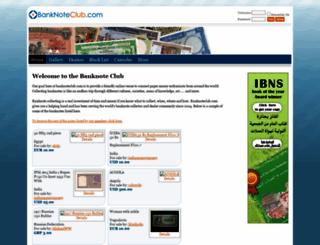 banknoteclub.com screenshot