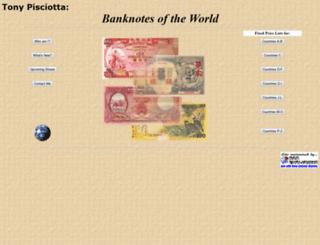 banknotesoftheworld.com screenshot