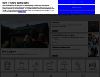 bankofireland.com screenshot