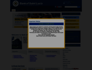 bankofsaintlucia.com screenshot