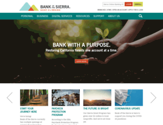 bankofthesierra.com screenshot
