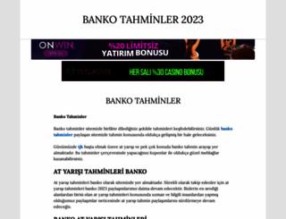 bankotahminler.com.tr screenshot