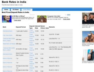 bankratesinindia.com screenshot