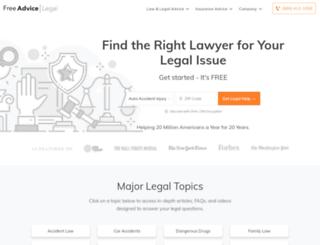 bankruptcy-law.freeadvice.com screenshot