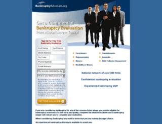 bankruptcyadvocate.org screenshot