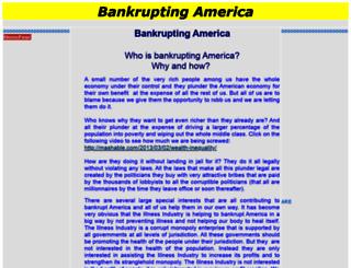 bankruptingamerica.com screenshot