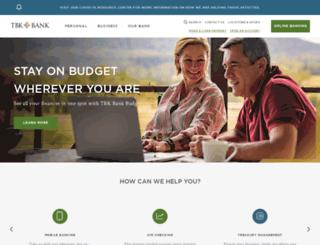 bankwithtriumph.com screenshot