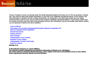 banner.buffalostate.edu screenshot