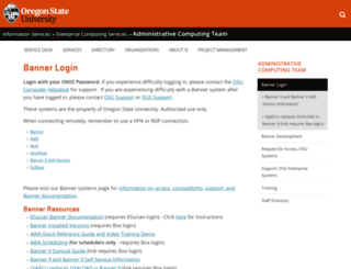 banner.oregonstate.edu screenshot