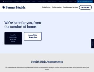 bannerhealth.com screenshot