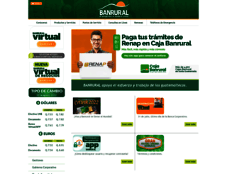 banrural.com.gt screenshot