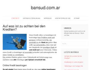 bansud.com.ar screenshot