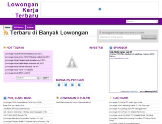 banyaklowongan.blogspot.com screenshot