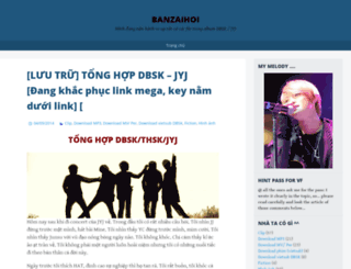 banzaihoi.wordpress.com screenshot